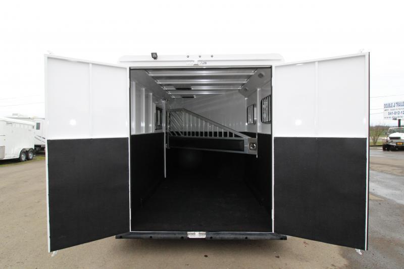 "2019 Trails West Classic 2 Horse Trailer - 7'6"" Tall - Warmblood Stalls"