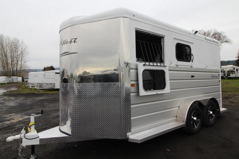 2019 Trails West Sierra II Warmblood 2 Horse Trailer Lined & Insulated - Aluminum Skin Steel Frame
