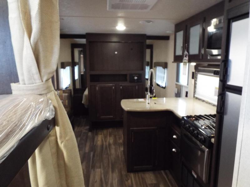 2017 Forest River EVO Travel Trailer 2300 - Slide Out - Stainless Steel Appliances - Bunk Beds - Arctic Package - Shadow Interior Decor