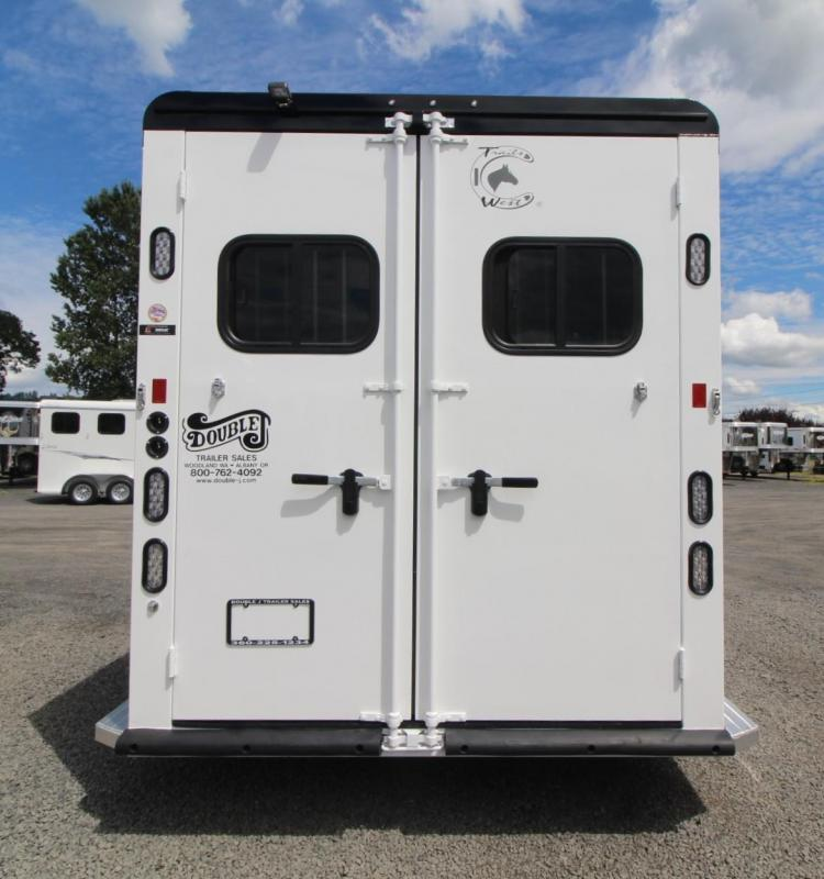 """2020 Trails West Manufacturing Sierra Select Horse Trailer 7'6"""" Tall - Escape Door"""