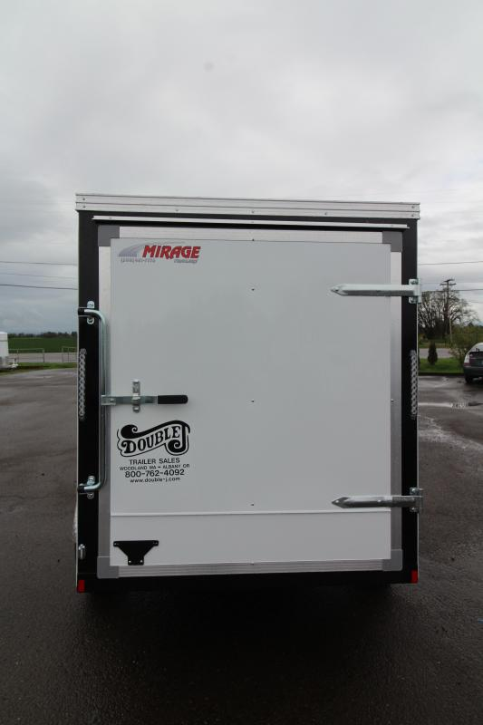 2019 Mirage Xpres 5x8 SA Utility Trailer- White exterior- Rear single swinging door- Xtra package