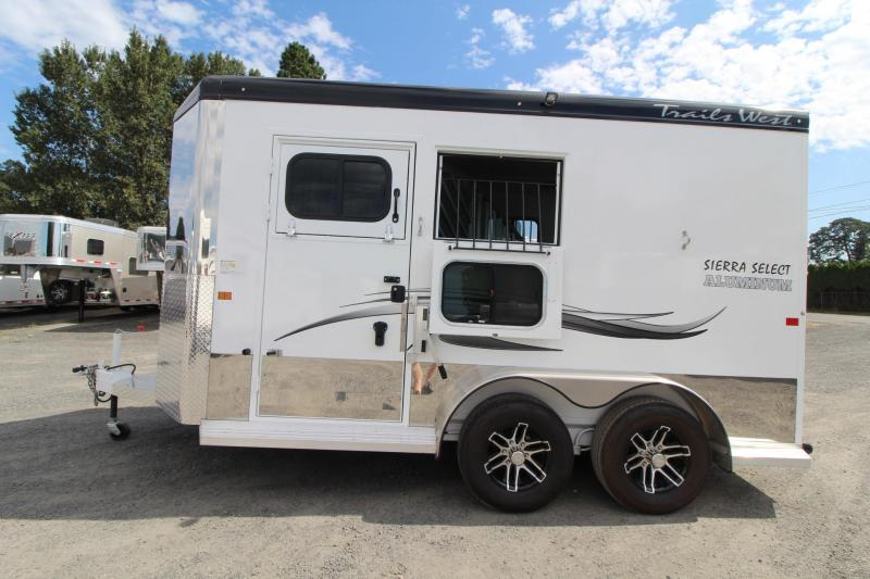 "Lightly Used 2019 Trails West Sierra Select 7' 6"" Tall 2 Horse Trailer Seamless Aluminum Vacuum Bonded Walls"