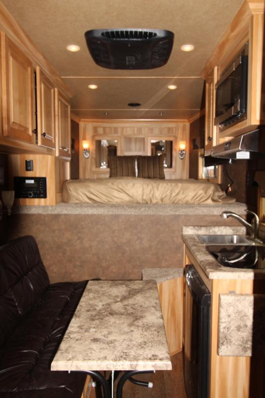 2019 Exiss Escape 7308 3 Horse 8' SW LQ Trailer - All Aluminum - Power Awning - Dinette - Easy Care Flooring - PRELIMINARY PHOTOS