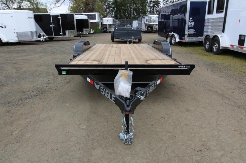 2019 Eagle Trailer 7x16 Tandem Axle 7k Flatbed Trailer