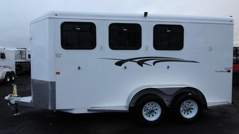 2019 Trails West Adventure MX II 3 Horse Trailer Aluminum Skin Steel Frame