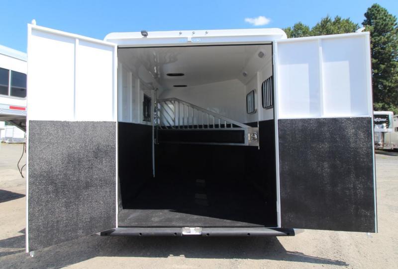 "2020 Trails West Classic II Warmblood 7' 6""T 2 Horse Trailer - Aluminum Skin Steel Frame"
