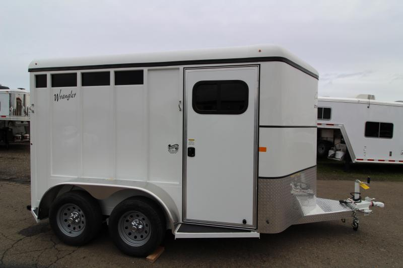 2019 Thuro-Bilt Wrangler Plus 2 Horse Trailer - Fully Enclosed Tack Room - Plexi Glass Inserts - Swing Out Saddle Rack