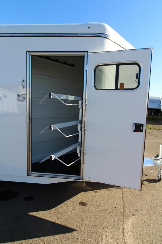 2019 Thuro-Bilt Shilo 4 Horse Trailer - Drop Down Head Side Windows - Tail Side Air Gaps - Fully Enclosed Tack Room with Swing Out