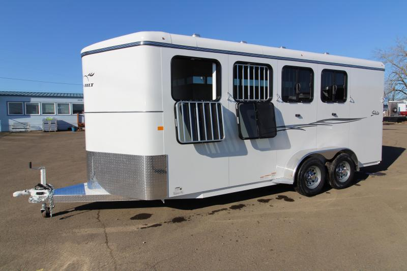 2019 Thuro-Bilt Shilo 4 Horse Trailer - Drop Down Head Side Windows - Tail Side Air Gaps - Fully Enclosed Tack Room with Swing Out in OR