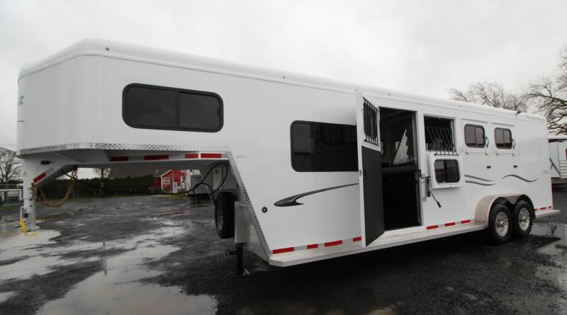 "2019 Trails West Classic 5x5 Comfort Package Sleeping area 4 Horse Trailer 7' 6"" Tall w/ Side tack"