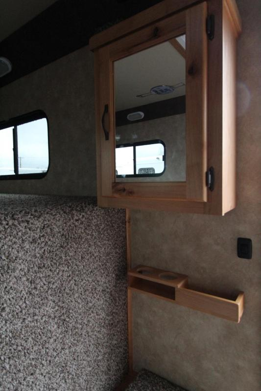 """2019 Trails West Classic 5x5 Comfort Package Sleeping area 4 Horse Trailer 7' 6"""" Tall w/ Side tack"""