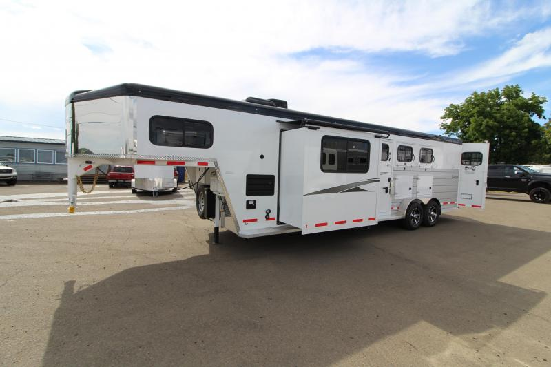 2018 Trails West Sierra 10x15 Living Quarters 3 Horse Trailer - Aluminum Skin Steel Frame - PRELIMINARY PICS