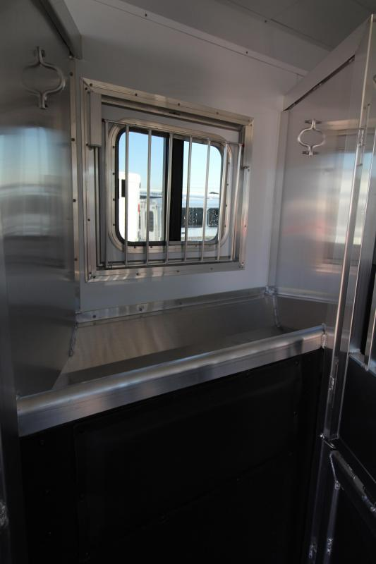 2019 Exiss 8314 - 3 Horse 14' SW Living Quarters w/ Slide Out Horse Trailer - All Aluminum - Power Awning - Mangers - Easy Care Flooring - Lined and Insulated Horse Area Ceiling