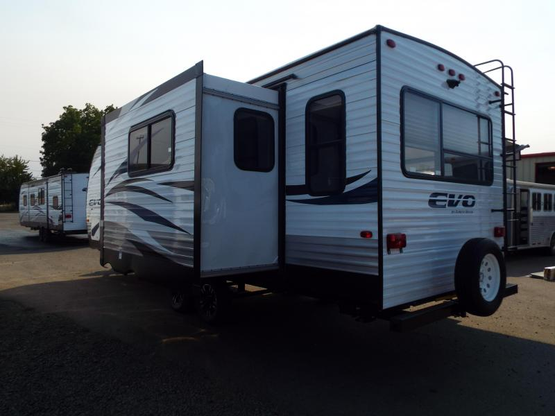 2018 Forest River EVO Travel Trailer 2460 - Arctic Package - Go Pro Solar Prep - Dinette in Slide out - Sofa - Silver Birch Interior Decor - PRICE REDUCED $1000