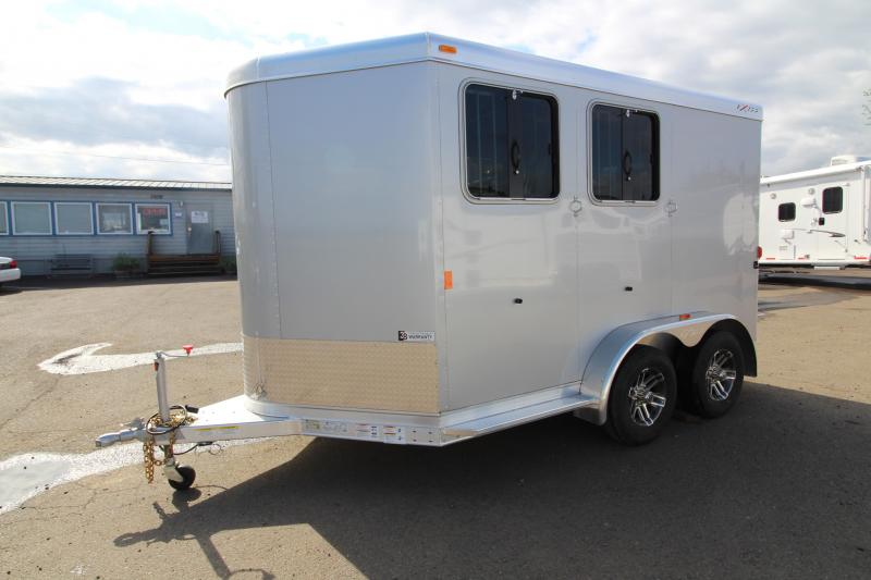 2018 Exiss Trailers Express SS - 2 Horse Trailer - All Aluminum With UPGRADED Easy Care Flooring - Silver Exterior Siding - PRICE REDUCED BY $300