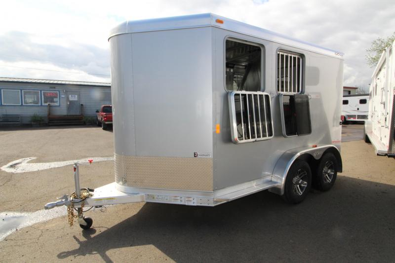2018 Exiss Trailers Express SS - 2 Horse Trailer - All Aluminum With Easy Care Flooring - Silver Exterior Siding