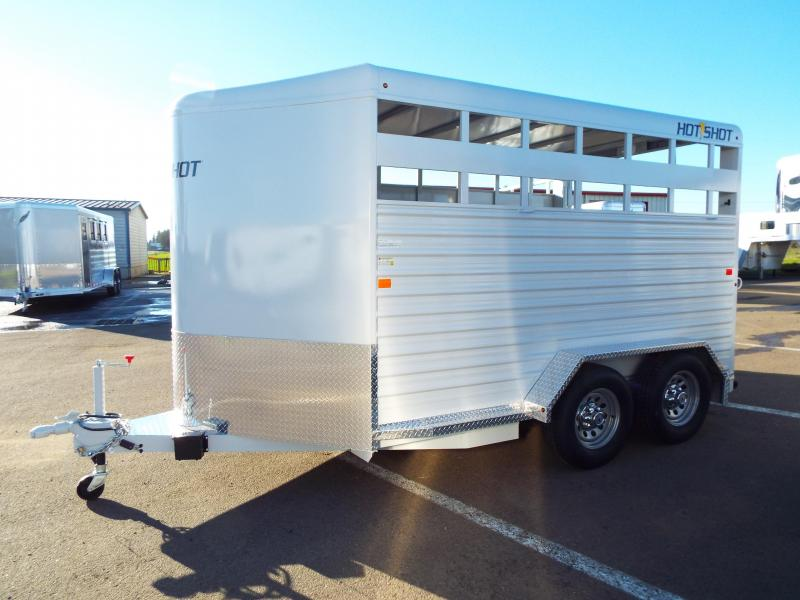 2016 Trails West Hotshot 14 Ft Stock Trailer w/ Swinging Tack Package - PRICE JUST REDUCED!