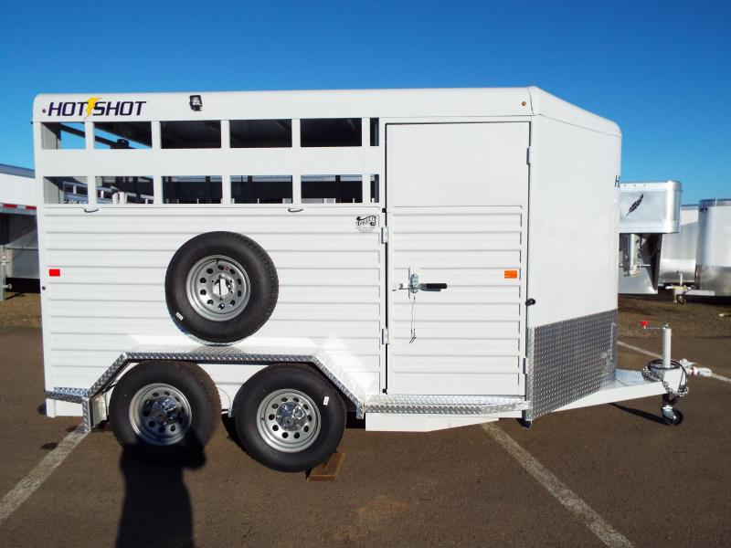 2016 Trails West Hotshot 14 Ft Stock Trailer w/ Swinging Tack Package - PRICE JUST REDUCED $905!
