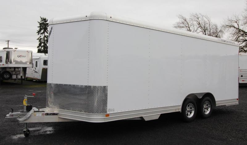 2019 Featherlite 4926 - 20ft Enclosed Car Trailer - all aluminum 7' Tall