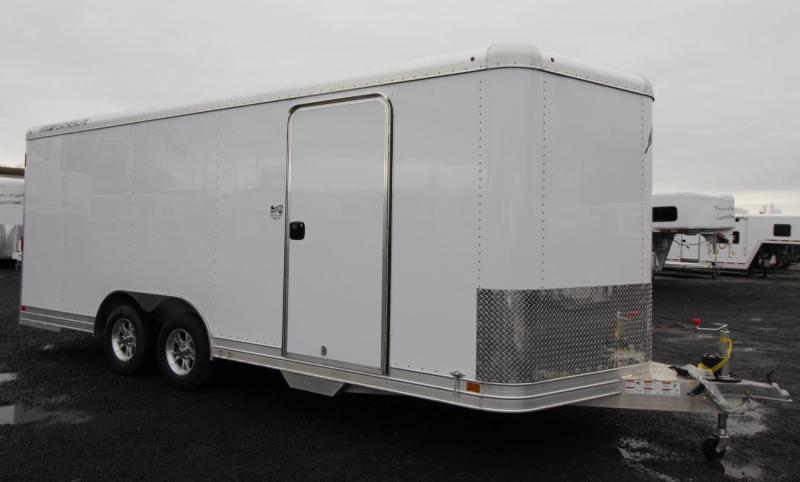 2019 Featherlite 4926 - 20ft Enclosed Car Trailer - all aluminum 7' Tall