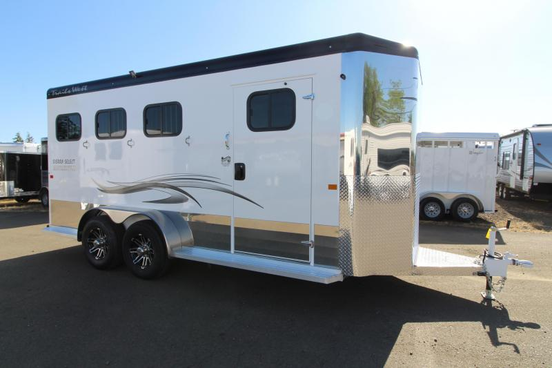 2020 Trails West Sierra Select 3 Horse Trailer - Vacuum Bonded Aluminum - Swing Out Saddle Rack