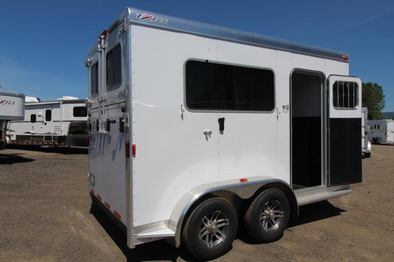 """2017 Exiss Trailers 722 Straight load REDUCED $1600 - 7'8"""" Tall-7 Wide-12'5"""" Long - Horse Trailer"""