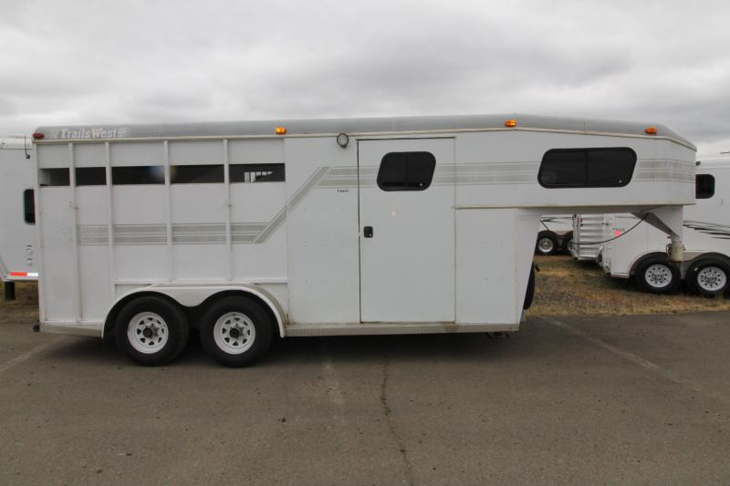 1997 Trails West  3 Horse Steel Trailer PRELIMINARY PICS
