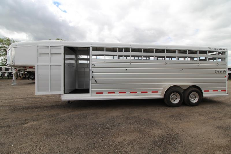 2017 Trails West Santa Fe 24 FT. - 2 Gates - Slider in rear door - stock Trailer $REDUCED$ in Garibaldi, OR