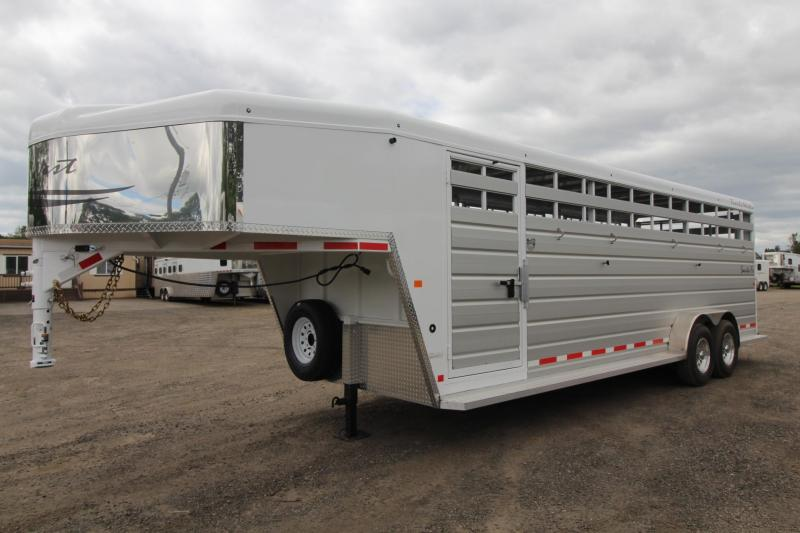 2017 Trails West Santa Fe 24 FT. - 2 Gates - Slider in rear door - stock Trailer
