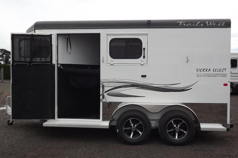 2017 Trails West Sierra Select Aluminum - 7' Tall - Seamless Vacuum Bonded 2 Horse Trailer w/ Escape Door