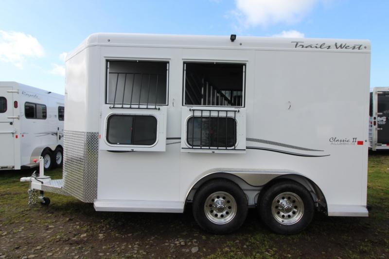 "2018 Trails West Classic II 7'6"" Tall 2 Horse Trailer - Aluminum Skin Steel Frame in Rhododendron, OR"