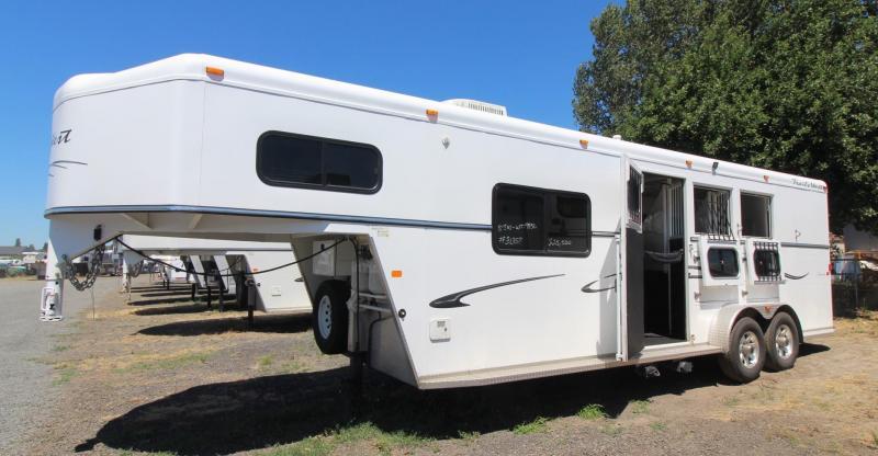 2008 Trails West Sierra 8x13 Living Quarters 3 Horse Trailer