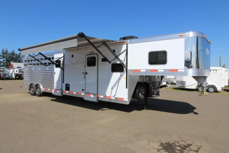 2019 EXISS STC 8032 STOCK COMBO 10'SW LIVING QUARTERS TRAILER - BUNK BED - MID TACK W/ RAMP - PRICE REDUCED