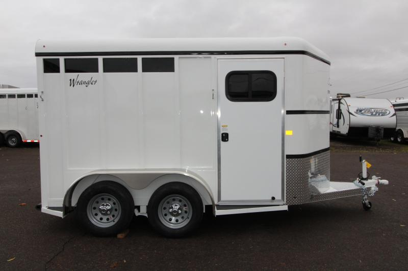 2019 Thuro-Bilt Wrangler 2 Horse Trailer - 7' Tall - Solid Tack Wall -