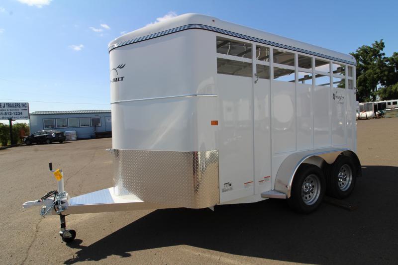 2020 Thuro-Bilt Wrangler 13ft Livestock Trailer - Single wall construction - Curbside escape door - Floor mats - Single rear door