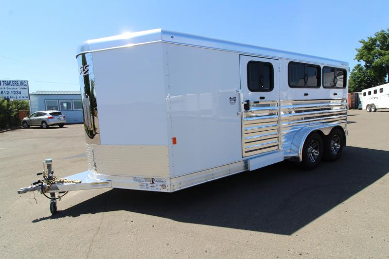 2020 Exiss Exhibitor 716W Stock Combo - All aluminum - Tack Room - Fully Removable 6 Pen System - Side Ramp - Rear Ramp
