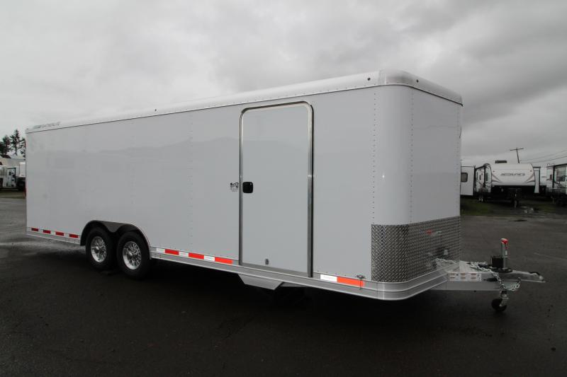 2019 Featherlite 4928 Enclosed Car / Racing Trailer 24' - Cable Assist Ramp Door - All Aluminum Construction