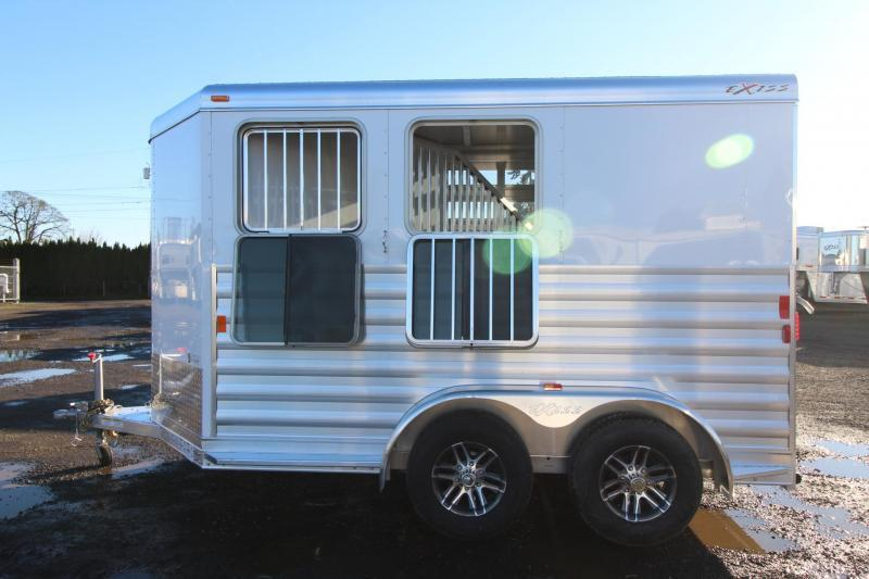 2018 Exiss Express CXF 2 Horse Trailer W/ Plexi inserts - Jail Bar Dividers Drop Down Windows- PRICE REDUCED