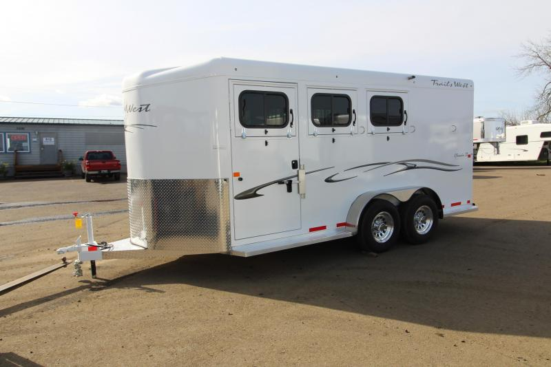 2018 Trails West Classic 3 Horse Trailer - Steel Frame Aluminum Skin - Escape Door - Convenience Package - 6000# Axles