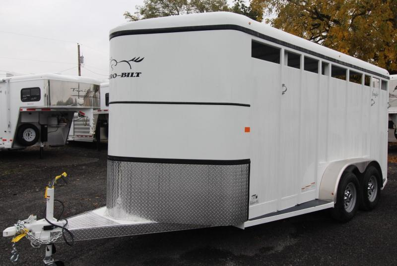 "2019 Thuro-Bilt Wrangler 3 Horse Trailer 7' 6"" Tall - Swing out saddle rack"
