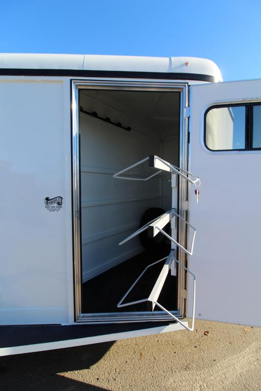 2019 Thuro-Bilt Wrangler Plus 3 Horse Trailer - 7' Tall - Enclosed Tack Room - Swing Out Saddle Rack - Removable Plexi Glass Inserts