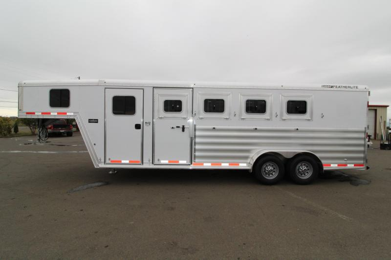 2019 Featherlite 8542 Legend Series - All Aluminum - 4 Horse - 7' Tall and Wide - Folding Rear Tack