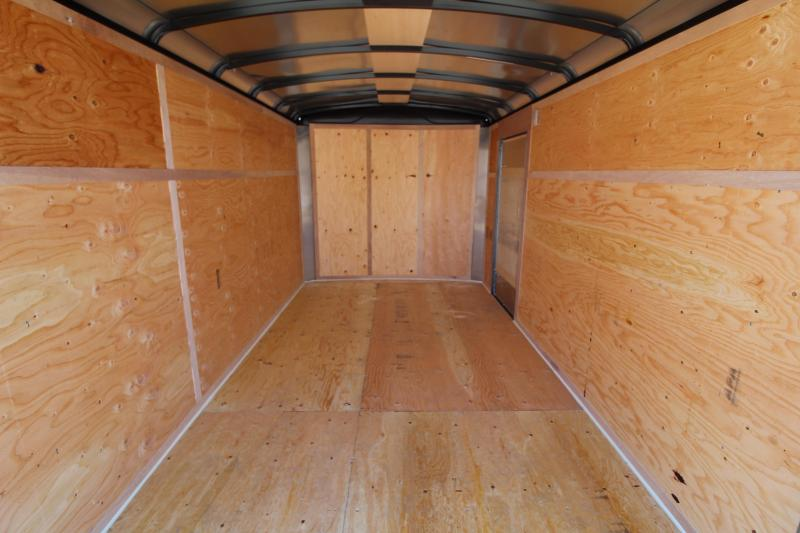 2020 Mirage Xcel 7x12 ft. Enclosed Cargo Trailer - Tandem Axle - Rear Ramp - Charcoal Exterior Color - Domed roof - Radius front