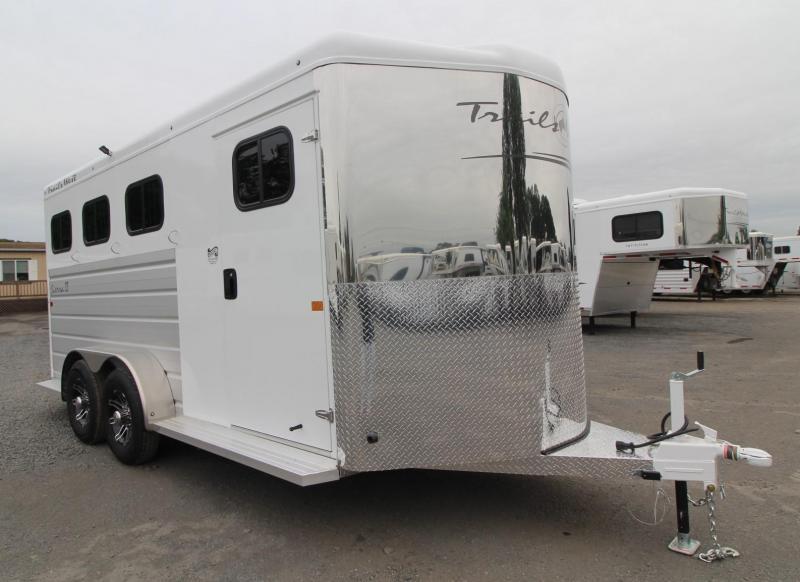 """2019 Trails West Sierra II 7 6"""" Tall 3 Horse Trailer w/ Escape Door"""