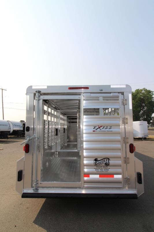 "2019 Exiss 7024 Livestock Trailer - 6'8"" Tall - Sliders in Center Gates -"