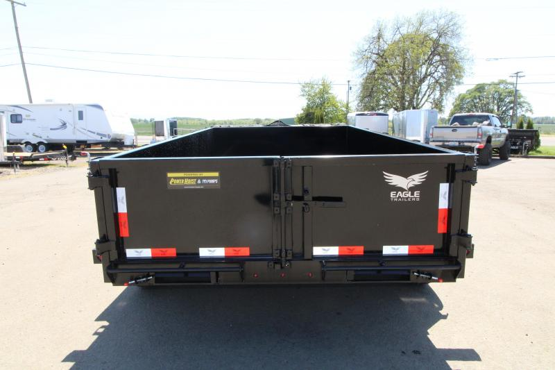 2019 Eagle 7x12 Dump Trailer with Mesh Roll Tarp - Tandem 7000# axles - Trailer brakes on both axles -  Spare tire included - Lockable tongue box - Trickle charge line from tow vehicle - Plug in battery charger