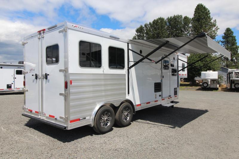 2018 Exiss Endeavor 8210 w/ Slide Living Quarters 2 Horse Trailer