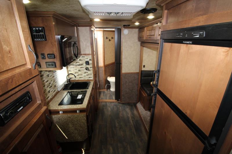 2018 Trails West Classic 12x12 Living Quarters 3 Horse Trailer W/ Slide out - Hoof Grip Easy Care Flooring - Side Tack - Escape Door