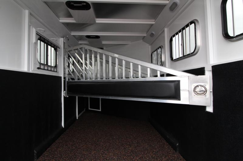 2019 Trails West Classic 12x12 Living Quarters 3 Horse Trailer W/ Slide out - Hoof Grip Easy Care Flooring - Side Tack - Escape Door