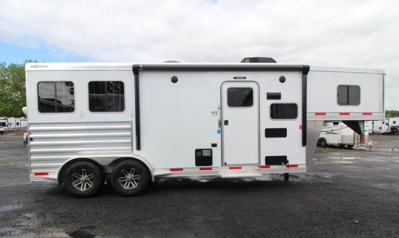 2019 Exiss 7208 - 8' sw Living Quarters 2 Horse Aluminum Trailer